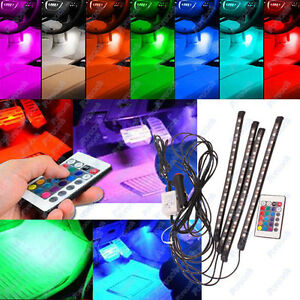 4in1 fernbedienung farbe kontrolle auto 15 led neon lampe innenbeleuchtung ebay. Black Bedroom Furniture Sets. Home Design Ideas