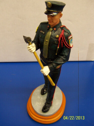 Fireman Marching Vanmark Firefighter Fire Red Hats Courage Collectible Figurine