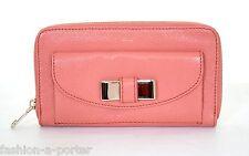 Chloé Fiocco Logo Rosa Zip Intorno CONTINENTAL Leather Wallet Purse NUOVO CON ETICHETTA