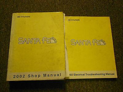2002 hyundai santa fe service repair shop workshop manual. Black Bedroom Furniture Sets. Home Design Ideas