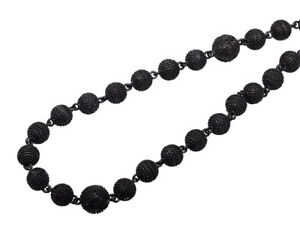 ball necklace. image is loading black-gold-finish-5mm-bead-34-034-chain- ball necklace