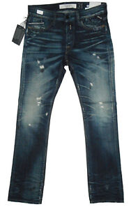 Details about Maestro Replay WAITOM Reg Slim Fit W31 L34 RRP £195 Mens Blue Denim Jeans