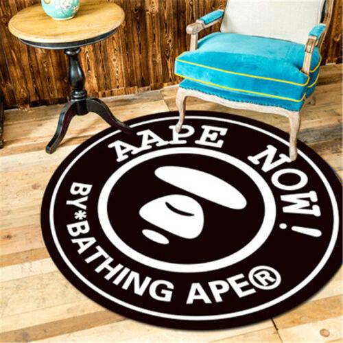 Bape Black/&White Bathroom Round Mat Door Floor Rug Carpet Gift By Bathing Ape