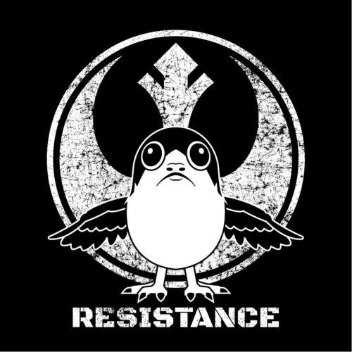 star wars the last jedi PORG Resistance t-shirt screen printed