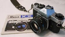 VINTAGE PENTAX KX 35 MM CAMERA AND 55 MM F 1:2 PRIME SMC ASAHI OPT. LENS