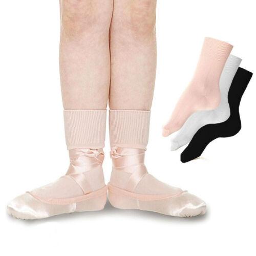 ROCH VALLEY LBS BALLET GIRLS SOCKS PINK WHITE BLACK GYMNASTIC DANCE DANCEWEAR