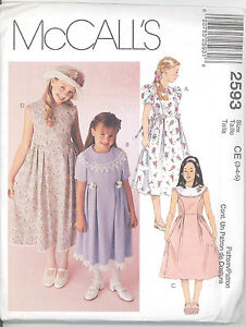 Mccall S 2593 Girls Dresses Size 3 4 5 Sewing