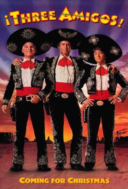 the three amigos movie poster 27x40 b chevy chase steve martin martin short joe - Steve Martin Christmas Movie