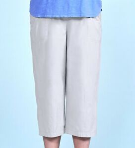 FRESH PRODUCE 3X Cobblestone BEIGE Beachcomber Cotton Capris $69.00 NWT New 3X