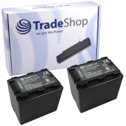 2x BATERIA para Panasonic hdc-sd40gk hdc-sd40k hdc-sd40p hdc-sd40pc con info chip
