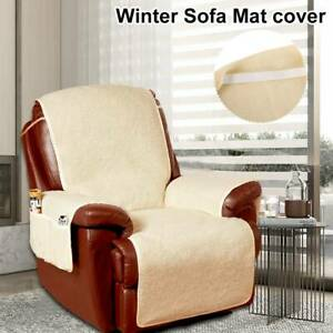 Fleece Armchair Seat Sofa Couch Covers Slipcover Mat ...