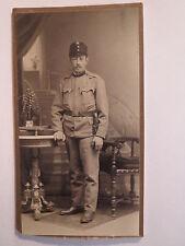 Eger - Bischofteinitz - stehender Soldat in Uniform / CDV