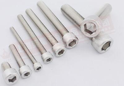 50pcs Metric Thread M4x10mm 304 Stainless Steel Hex Socket Head Cap Screw