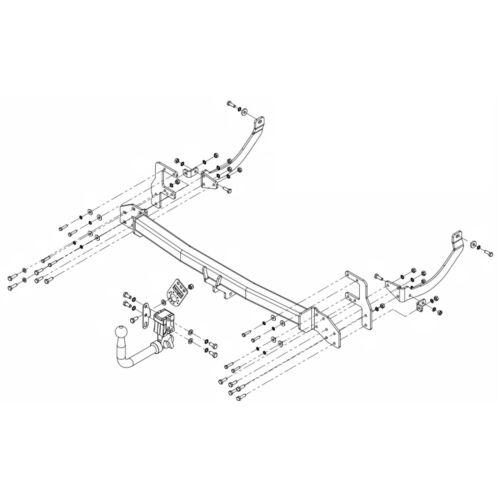 PCT Towbar for Peugeot 508 SW Estate 2011-2018 Detachable Swan Neck Tow Bar