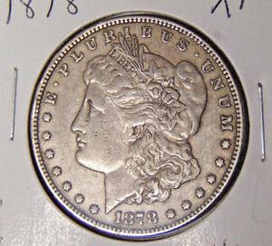 1878-Morgan-Silver-Dollar-XF-Philadelphia-Mint-7-TF-Reverse-of-1878-82718