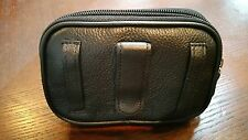 Black Leather Case Cover Pouch Holster Wallet with Belt Clip/Loop Phone Case