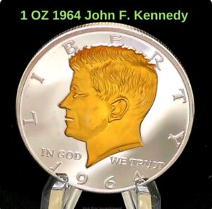 034-Copy-034-1964-Half-Dollar-President-John-F-Kennedy-2-Tone-Collector-Coin-US-SELLER