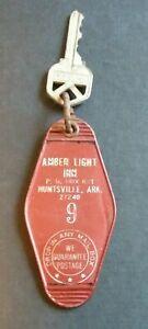 Huntsville AR Amber Light Inn Hotel Room Key Closed Bad Reviews Circa 1970s