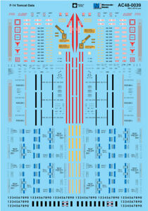 Microscale-Adhesivos-1-48-F-14-Tomcat-Datos-con-Unarmed-Misil-Senales-Ms48039