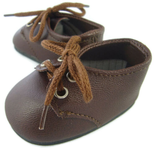 """Dark Brown Oxford Shoes made for 18/"""" American Girl Doll Molly Doll Clothes"""