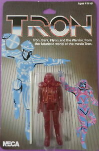 Disney-039-s-Tron-Warrior-Limited-Edition-Reproduction-Figure-NECA-2002-New-Card