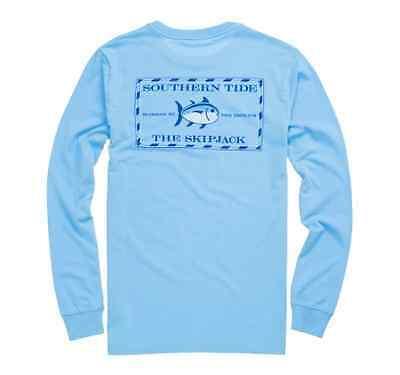Southern Tide Men/'s Original Skipjack Long Sleeve T-Shirt Original White