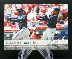 2018 Topps Now RONALD ACUNA JR & OZZIE ALBIES #130 Rookie Duo BRAVES /2711 ⚾️ 🔥