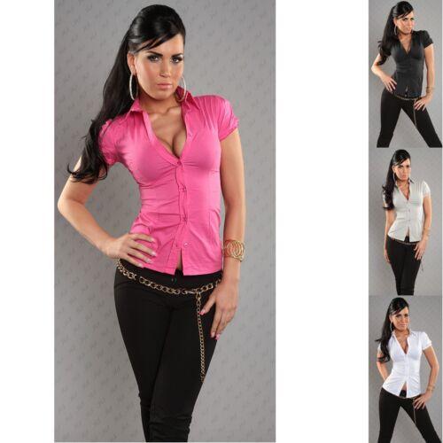kurzarm Bluse zum binden, rückenfrei NEU Damen S M L XL 34 36 38