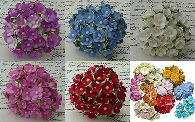 PACK 10  BEAUTIFUL SWEETHEART BLOSSOM FOR CARDS AND CRAFTS 6 COLOURS TO CHOOSE