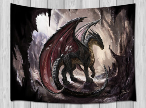 Dragon and cave Tapestry Wall Hanging for Living Room Bedroom Dorm Decor