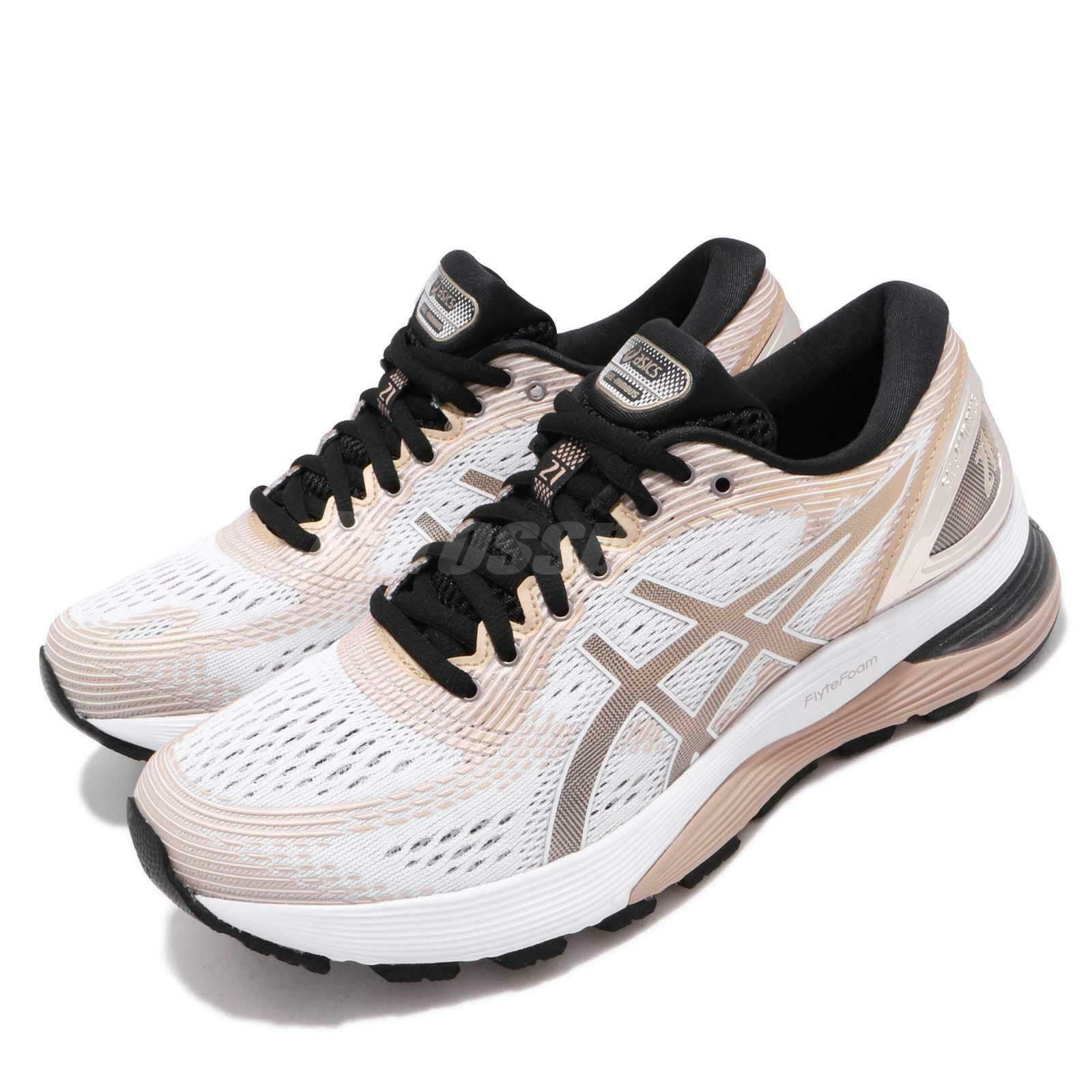 Asics Gel-Nimbus 21 Platinum  White Frosted Almond Womens Run shoes 1012A608-100  cheap sale outlet online