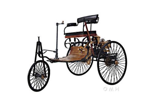 "1886 Mercedes Benz Patent Motorwagen Metal Desk Car Model 14/"" Automotive Decor"