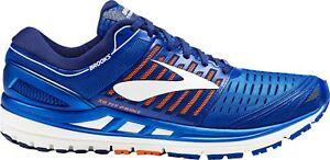Détails sur Brooks Transcend 5 Homme Chaussures De Course Bleu afficher le titre d'origine