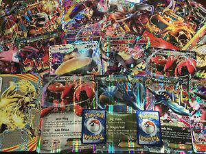 Pokemon-TCG-5-tarjeta-Lote-De-Gran-Tamano-Jumbo-con-MEGA-ex-romper-o-tarjetas-Gx