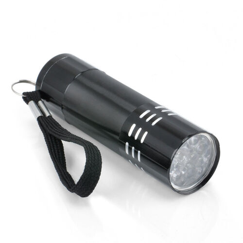 Black UV Ultra Violet 9 LED Flashlight Mini Blacklight Tactical Torch Light Lamp