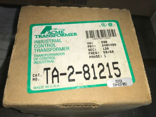 ACME Transformer, #TA-2-81215, Free Shipping to lower 48, With warranty,