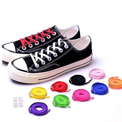 2PcsConvenient tieless lace no need tie flat shoelaces lazy shoe laces buckle XI
