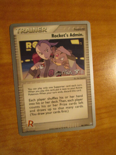 NM WC-2005 Pokemon ROCKET/'S ADMIN Card TEAM RETURNS Set 86//109 World Champs TCG