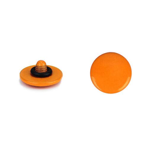 2x Boutons Souple de Décor pour Déclencheur à Vis Appareil Photo Orange