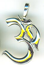 "925 Sterling Silver Om Ohm Pendant Length 1"" without bail"
