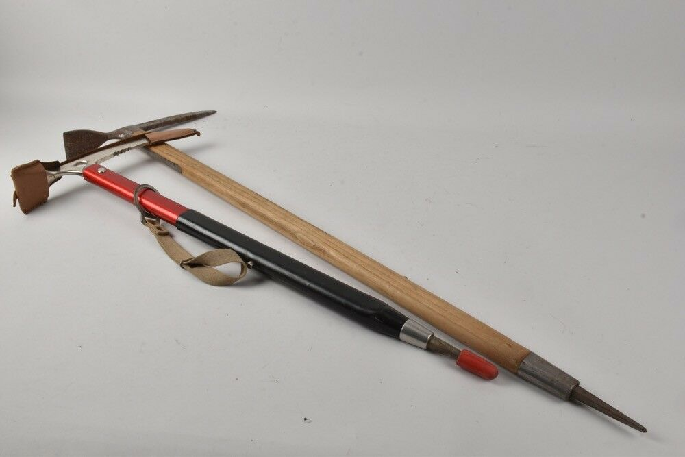 Vintage German ice axe West Germany 70s  mountain cabin hunting deco  exciting promotions