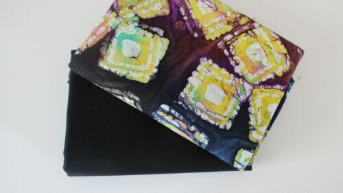 uni schwarz Stoffpaket 2 x 50 x 140 Canvas  Batic