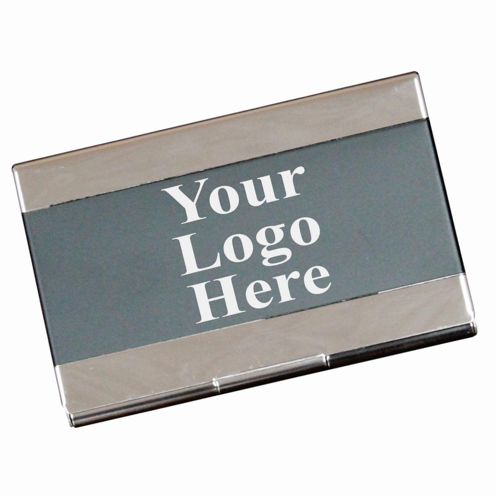 Engraved Black Business Card Case Holder Custom