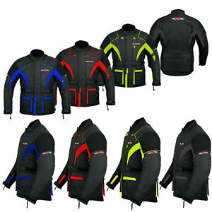 Armored-Motorbike-Motorcycle-Waterproof-Jacket-Cordura-Long-Coat-All-Weather-CE