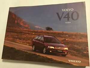 volvo v40 owners manual drivers handbook 1996 petrol turbo diesel rh ebay co uk 2004 Volvo S40 Turbo 2007 Volvo S40 Turbo