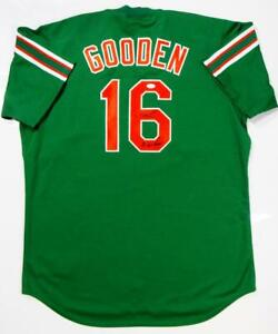 online store da912 820d0 Details about Doc Gooden Signed New York Mets Green Majestic Jersey w/ 86  WS Champs-JSA W Auth