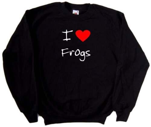 I love coeur Sweat grenouilles