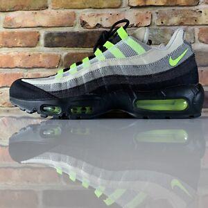 Nike-Air-Max-95-Denham-Men-039-s-Size-11-5-Black-Volt-Summit-White-LIMITED