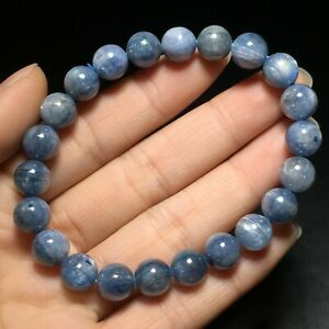 8-5mm-Natural-Blue-Kyanite-Cat-Eye-Crystal-Beads-Stretch-Bracelet-AAA