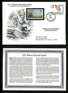 World-War-II-50th-Anniversary-Cover-12-11-1944-Manila-Philippines-Leyte-Secured